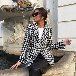 Zara Tweed Houndstooth Blazer NWOT